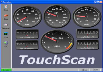 TouchScan: Dashboard