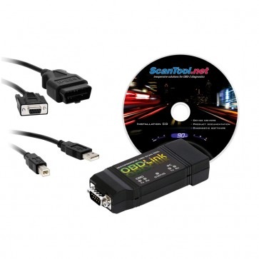 OBDLink, installation CD, OBD and USB cables.