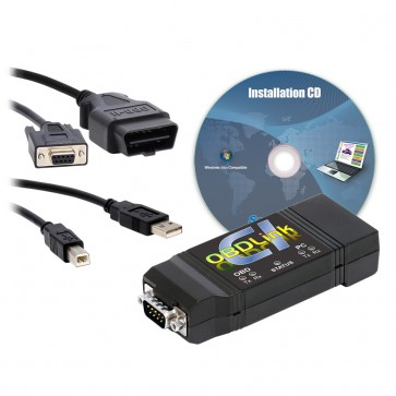 OBDLink CI, OBD cable, USB cable, Installation CD
