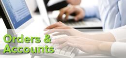 Orders & Accounts Banner