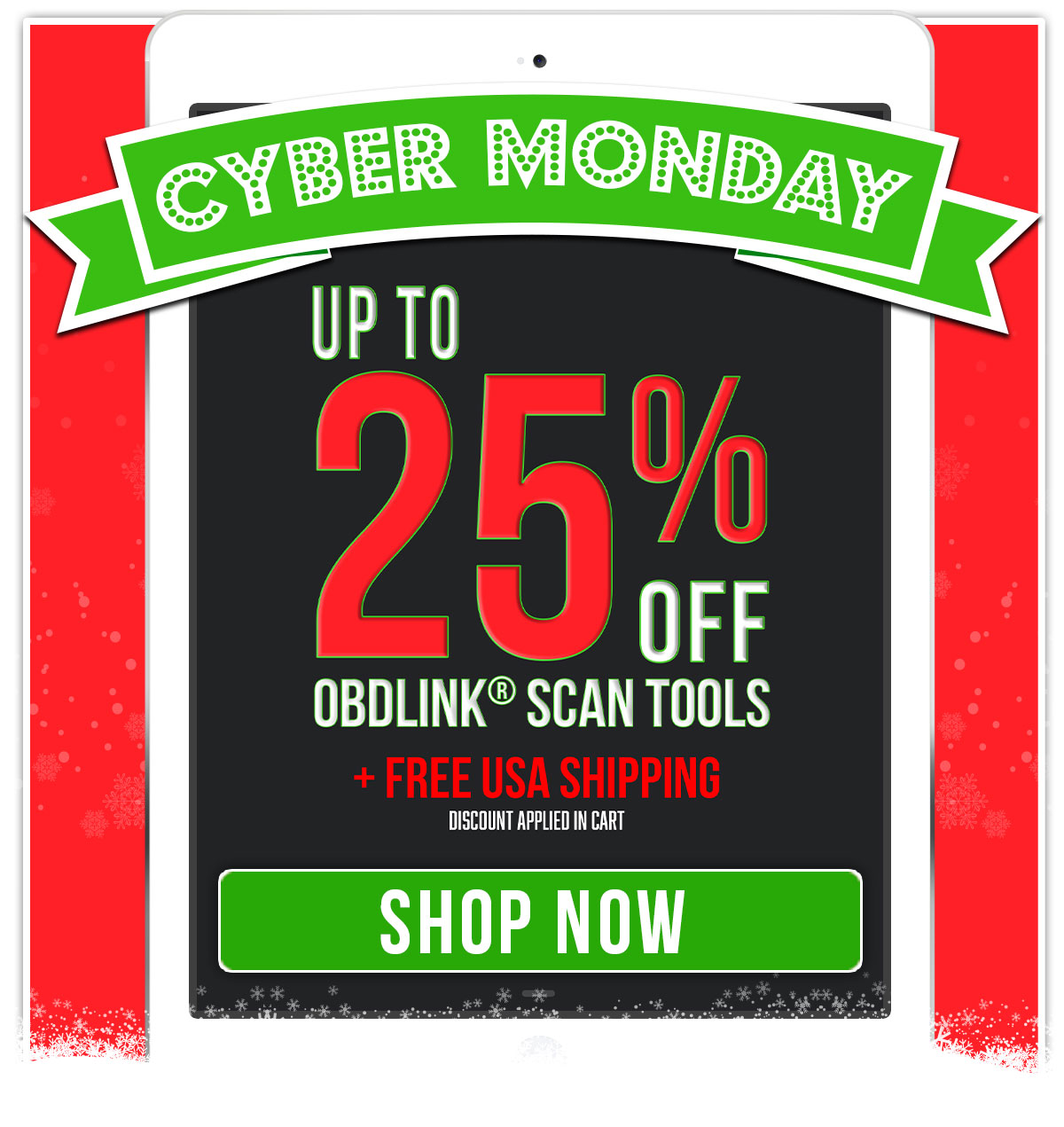 Cyber Monday Sale - Up to 25% Off Scan Tools