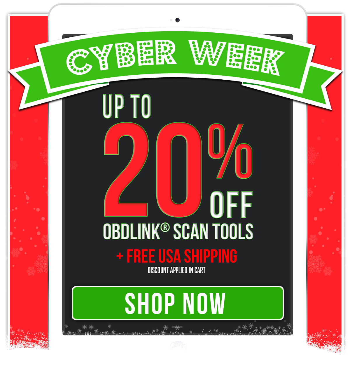 Cyber Week Sale - Up to 20% off OBDLink scan tools