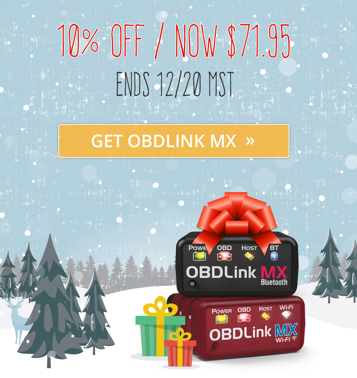 OBDLink Holiday Sale - 10% off OBDLink MX Bluetooth or MX Wi-Fi