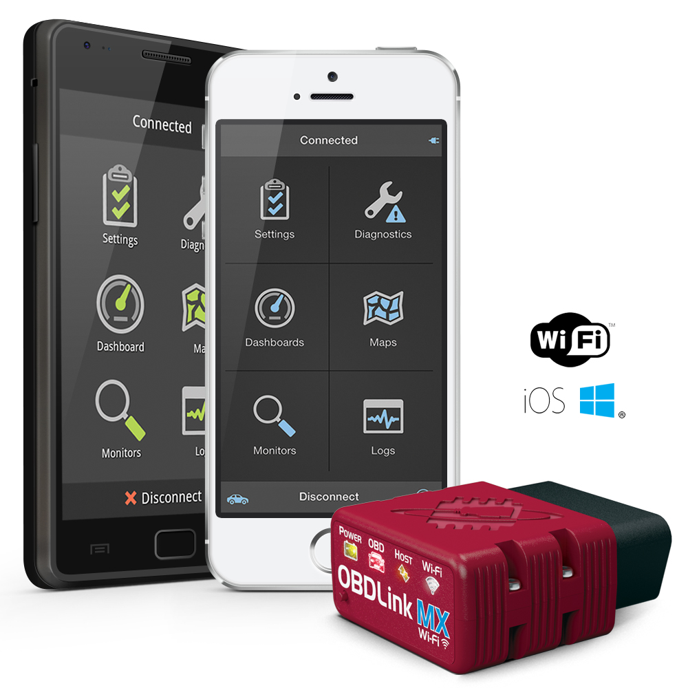 OBDLink MX Wi-Fi with Android & iOS phones