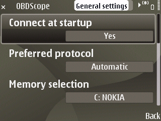 OBDscope general settings